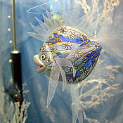 Для дома и интерьера ручной работы. Ярмарка Мастеров - ручная работа Рыбка  Цветочный иней. Handmade.
