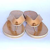 Обувь ручной работы. Ярмарка Мастеров - ручная работа Кожаные сандалии с узелком. Handmade.