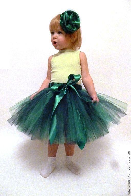 Длина юбочки = 30 см, обхват талии до 55 см. Для девочки 3-6 лет