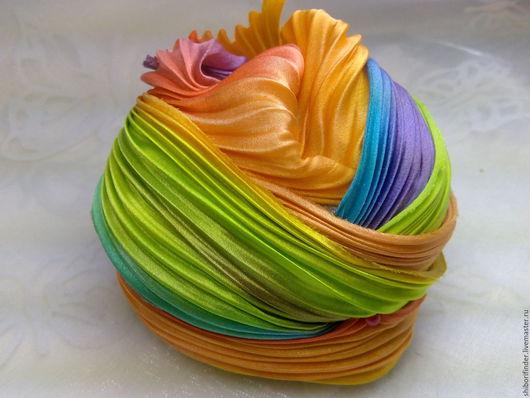 Для украшений ручной работы. Ярмарка Мастеров - ручная работа. Купить Ленты Шибори Silk Ribbons Shibori № 88 Фруктовый микс. Handmade.