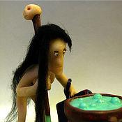 Куклы и игрушки ручной работы. Ярмарка Мастеров - ручная работа Ведьма у котла. Handmade.