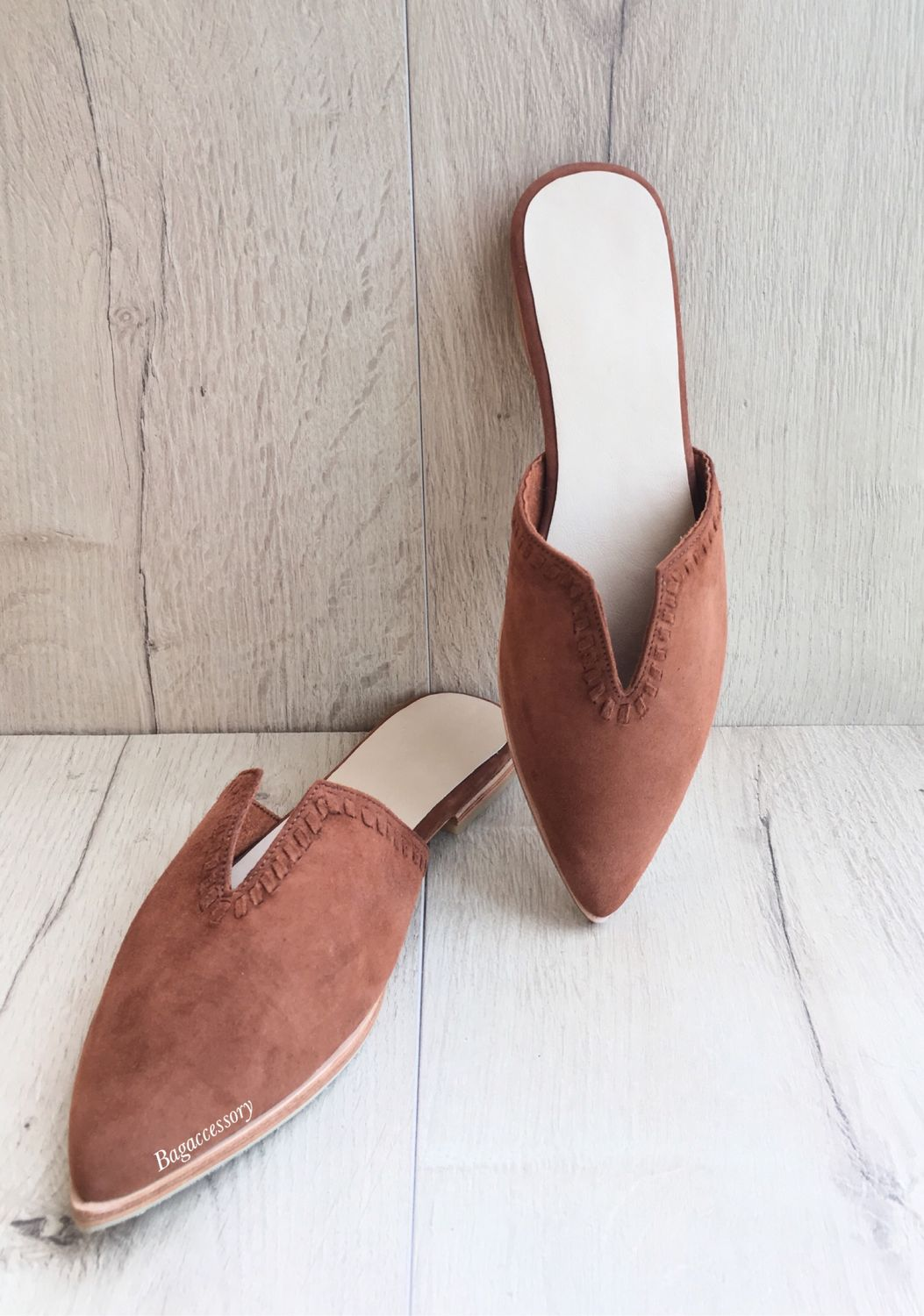 Mules made of natural suede, Mules, Moscow,  Фото №1