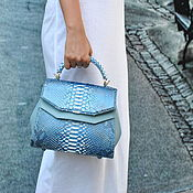 Сумки и аксессуары handmade. Livemaster - original item Limerence Python skin bag. Handmade.