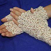 """Аксессуары ручной работы. Ярмарка Мастеров - ручная работа перчатки """" Розы"""" свадебные. Handmade."""