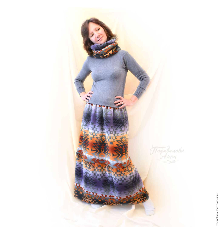 4481f2522 Skirt warm long fleece in the lining.Snood winter fashion, Anna Podivilova.