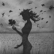 Картины и панно ручной работы. Ярмарка Мастеров - ручная работа Осенняя грусть. Handmade.