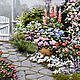 Пейзаж ручной работы. садовый пейзаж. Любовь Олехнович. Интернет-магазин Ярмарка Мастеров. Садовые цветы, атласные ленты