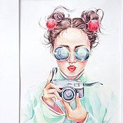 Картины и панно handmade. Livemaster - original item Watercolor Traveler.. Handmade.