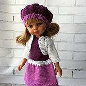 Куклы и игрушки ручной работы. Ярмарка Мастеров - ручная работа Платье, болеро и берет для куклы. Handmade.