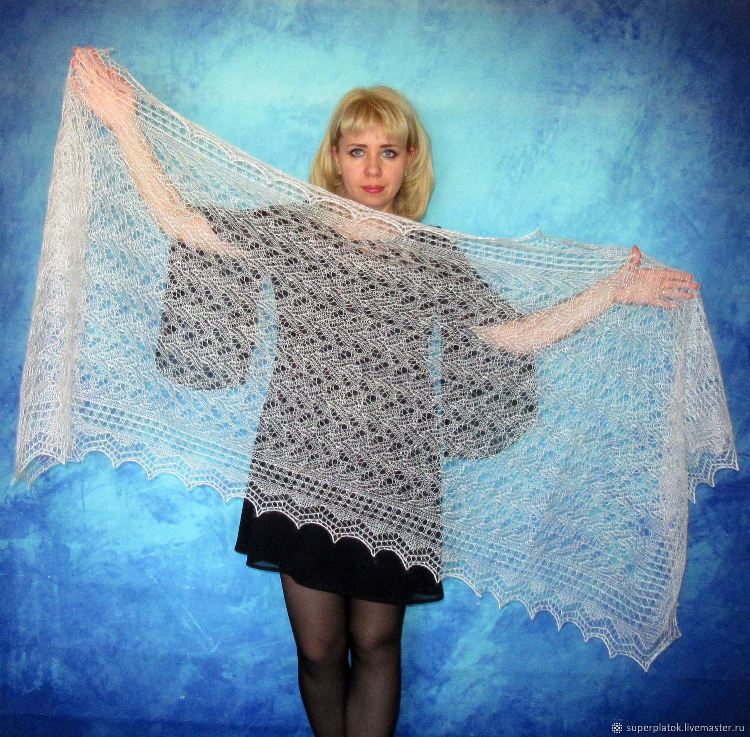Lace shawl,wedding shawl,white scarf,hand knit shawl,warm wrap ...
