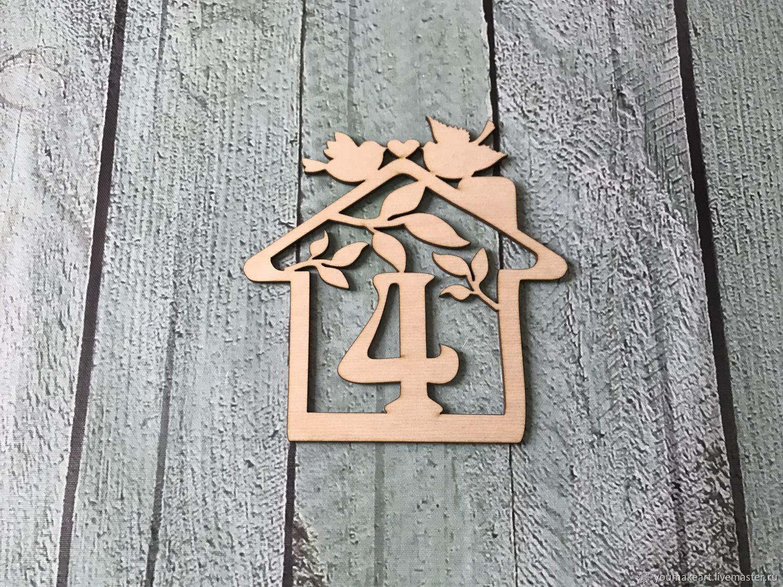 Номер на дверь квартиры индивидуального дизайна, Слова, Москва,  Фото №1