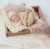 Работы для детей, handmade. Livemaster - original item lace cap for a newborn photo shoot. Handmade.