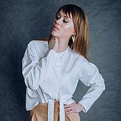 Одежда ручной работы. Ярмарка Мастеров - ручная работа Белая блуза. Handmade.
