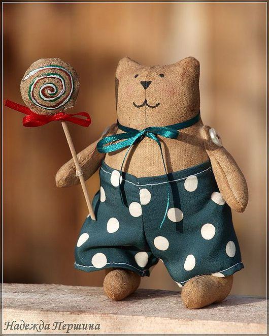Ароматизированные куклы ручной работы. Ярмарка Мастеров - ручная работа. Купить Кот с леденцом. Handmade. Игрушка, кофейная игрушка, бязь