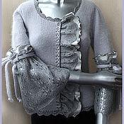 """Одежда ручной работы. Ярмарка Мастеров - ручная работа Блузка """"Серый шелк"""". Handmade."""