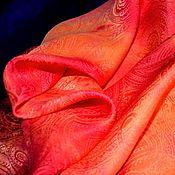 Аксессуары handmade. Livemaster - original item Copy of Shawl Neck orange color pearl luster jacquard pattern.. Handmade.