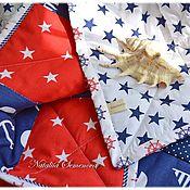 Для дома и интерьера handmade. Livemaster - original item Quilt baby quilts, quilted Sailor, for children plaid blanket sea. Handmade.