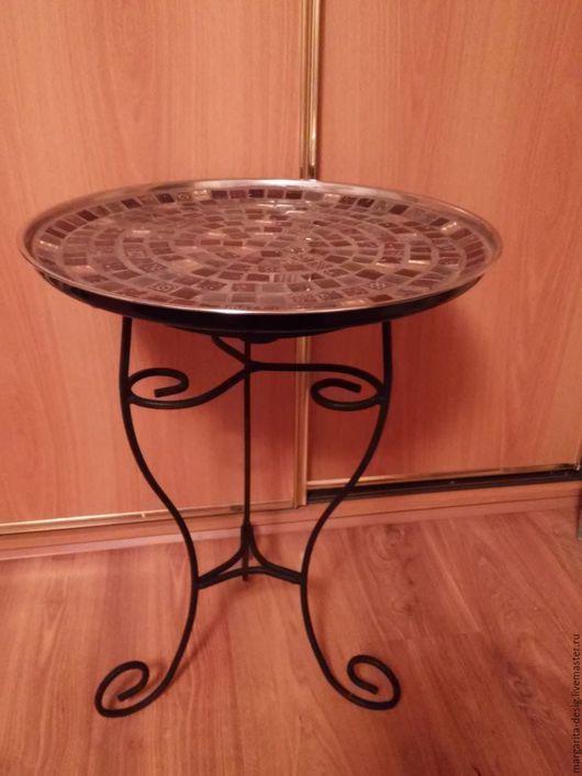 Кофейный столик-поднос Восточное настроение выс.65см. диаметр 50см. Цветовая гамма и высота подстолья  на Ваш вкус автор Веденеева Маргарита