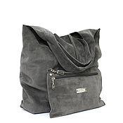 Сумки и аксессуары handmade. Livemaster - original item Bag suede medium bag shopper shopping Bag t shirt Bag. Handmade.