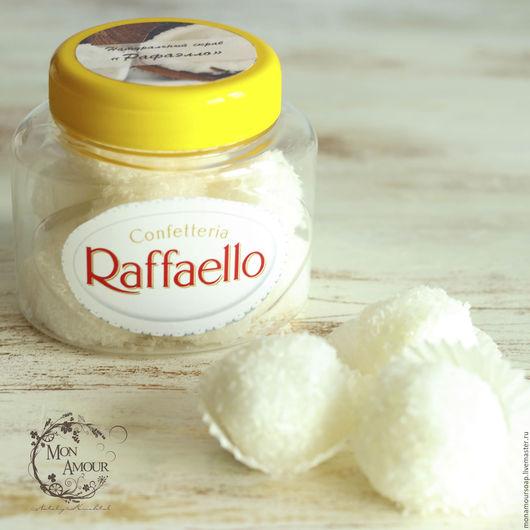 """Скраб ручной работы. Ярмарка Мастеров - ручная работа. Купить Скраб сахарный """"Рафаэлло"""". Handmade. Белый, скраб ручной работы"""