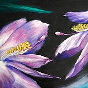 Картины ручной работы. Ярмарка Мастеров - ручная работа Любовь цветов. Картина маслом, холст на картоне. Handmade.