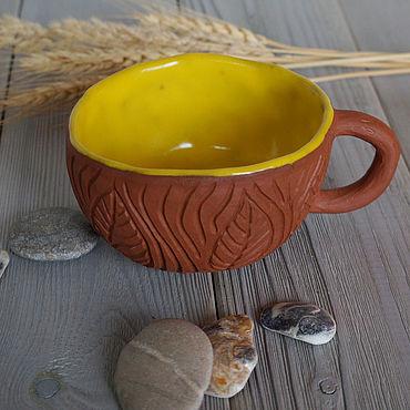 Посуда ручной работы. Ярмарка Мастеров - ручная работа Чашка резная. Handmade.