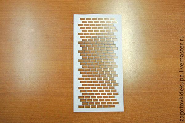 Трафарет  Размер: 26х13 см Материал: прозрачный тонкий пластик (0,2 мм)