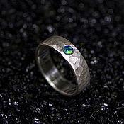 Кольца ручной работы. Ярмарка Мастеров - ручная работа Кованое кольцо с искусственным опалом. Handmade.