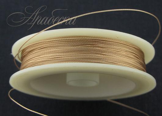 Тросик ювелирный цвета розового золота 0.47мм BEADALON (США) 0.5м