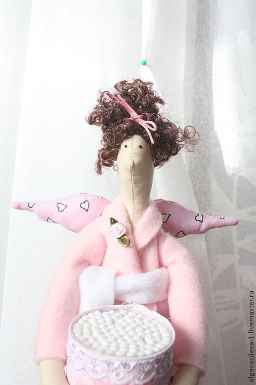 Куклы Тильды ручной работы. Ярмарка Мастеров - ручная работа. Купить Хранительница ватных палочек и дисков. Handmade. Розовый, хранительница