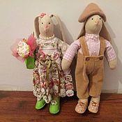 Куклы и игрушки ручной работы. Ярмарка Мастеров - ручная работа Зайчики в розовом. Handmade.
