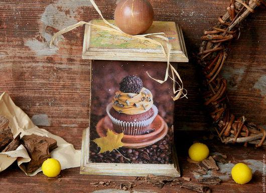 Корзины, коробы ручной работы. Ярмарка Мастеров - ручная работа. Купить Шоколадный кексик- баночка. Handmade. Коричневый, шоколадный капкейк
