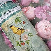 """Для дома и интерьера ручной работы. Ярмарка Мастеров - ручная работа Бидон - ваза """"Птички"""". Handmade."""