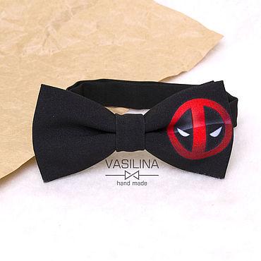 Accessories handmade. Livemaster - original item Bow tie Deadpool logo. Handmade.