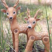Куклы и игрушки ручной работы. Ярмарка Мастеров - ручная работа Лесной олененок. Младший брат. Handmade.