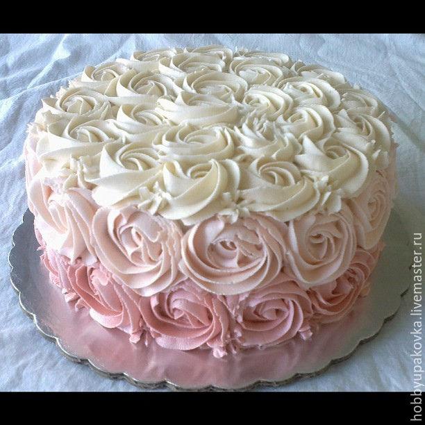 Из какого крема делают розочки на торт