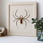 handmade. Livemaster - original item Beaded embroidery spider, insects, amulet. Handmade.