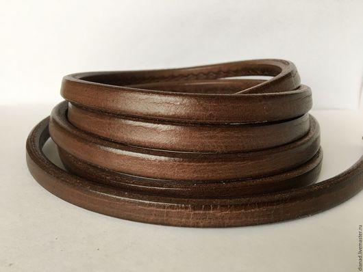 Для украшений ручной работы. Ярмарка Мастеров - ручная работа. Купить Кожаный шнур регализ, коричневый. Handmade. Коричневый, регализ