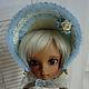 на кукле с размером парика 6-7