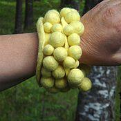 """Украшения ручной работы. Ярмарка Мастеров - ручная работа Широкий массивный браслет """"Лимонное монпасье"""". Handmade."""