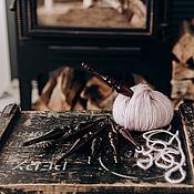 Материалы для творчества handmade. Livemaster - original item Set Of hooks for knitting from Siberian cedar (7 PCs. 4-10 mm) KN18. Handmade.