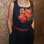 """Одежда ручной работы. Ярмарка Мастеров - ручная работа Платье """"Тюльпаны"""". Handmade."""