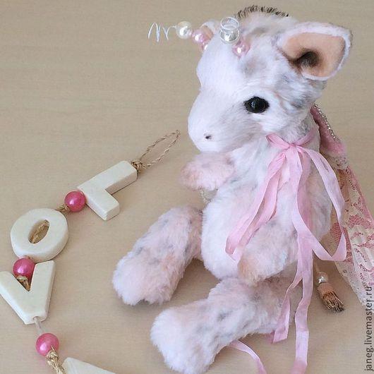 Мишки Тедди ручной работы. Ярмарка Мастеров - ручная работа. Купить Жирафик. Handmade. Бледно-розовый, искусственный мех