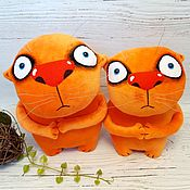 Куклы и игрушки handmade. Livemaster - original item Waiting for it to end/start. Red cats toys by Vasya Lozhkin. Handmade.