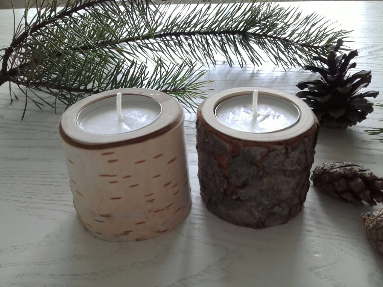 Candle holders from cut birch, pine and cedar, Candlesticks, Barnaul,  Фото №1