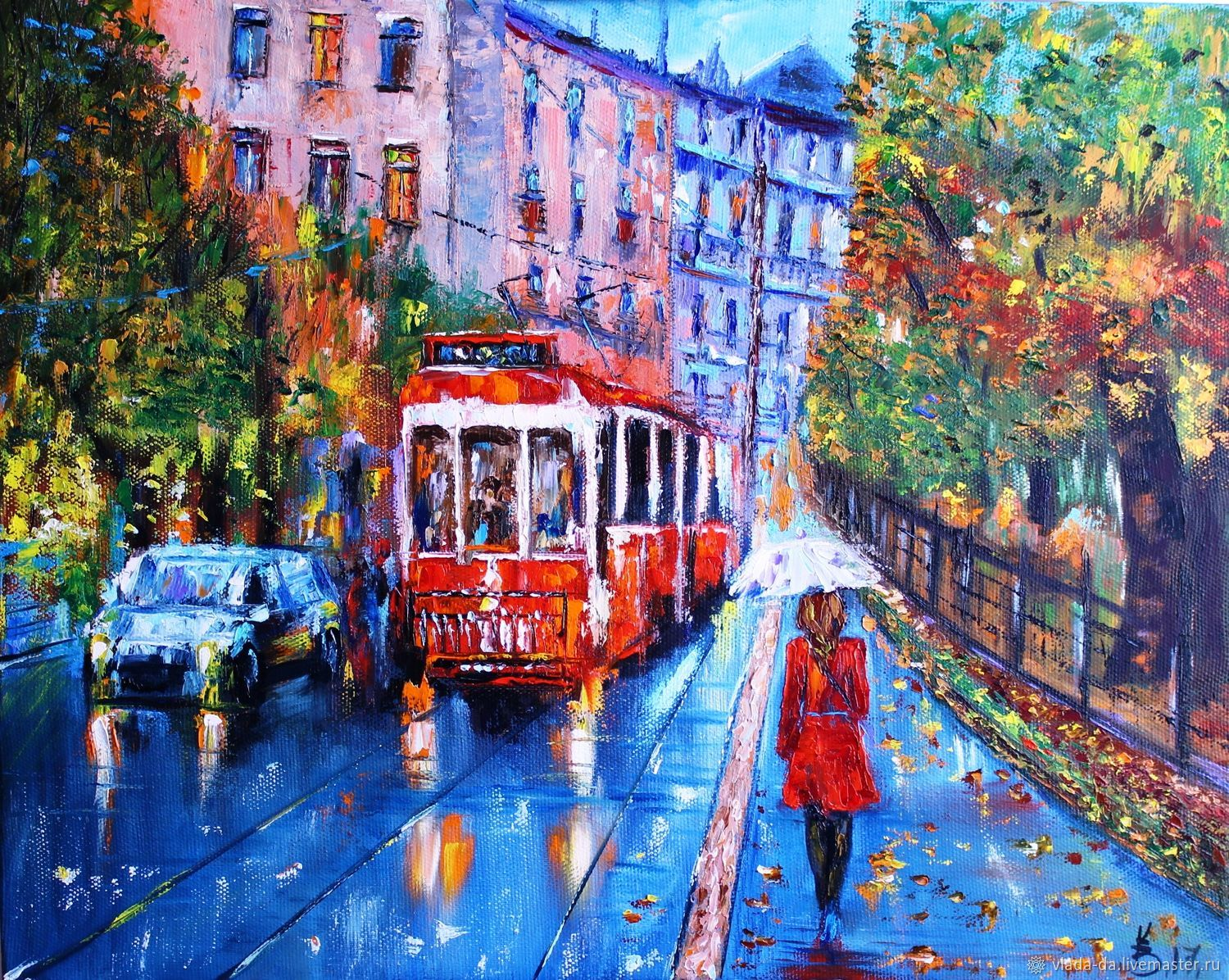 Oil painting of the St. Petersburg tram, Pictures, Moscow,  Фото №1