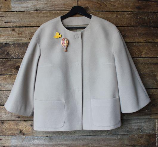 Пиджаки, жакеты ручной работы. Ярмарка Мастеров - ручная работа. Купить Жакет жемчужно-серый.. Handmade. Серый, ручная работа