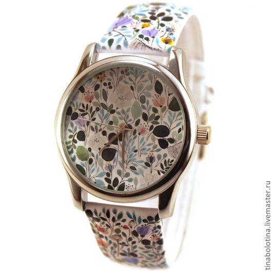 Часы ручной работы. Ярмарка Мастеров - ручная работа. Купить Дизайнерские наручные часы Флора. Handmade. Красивый подарок