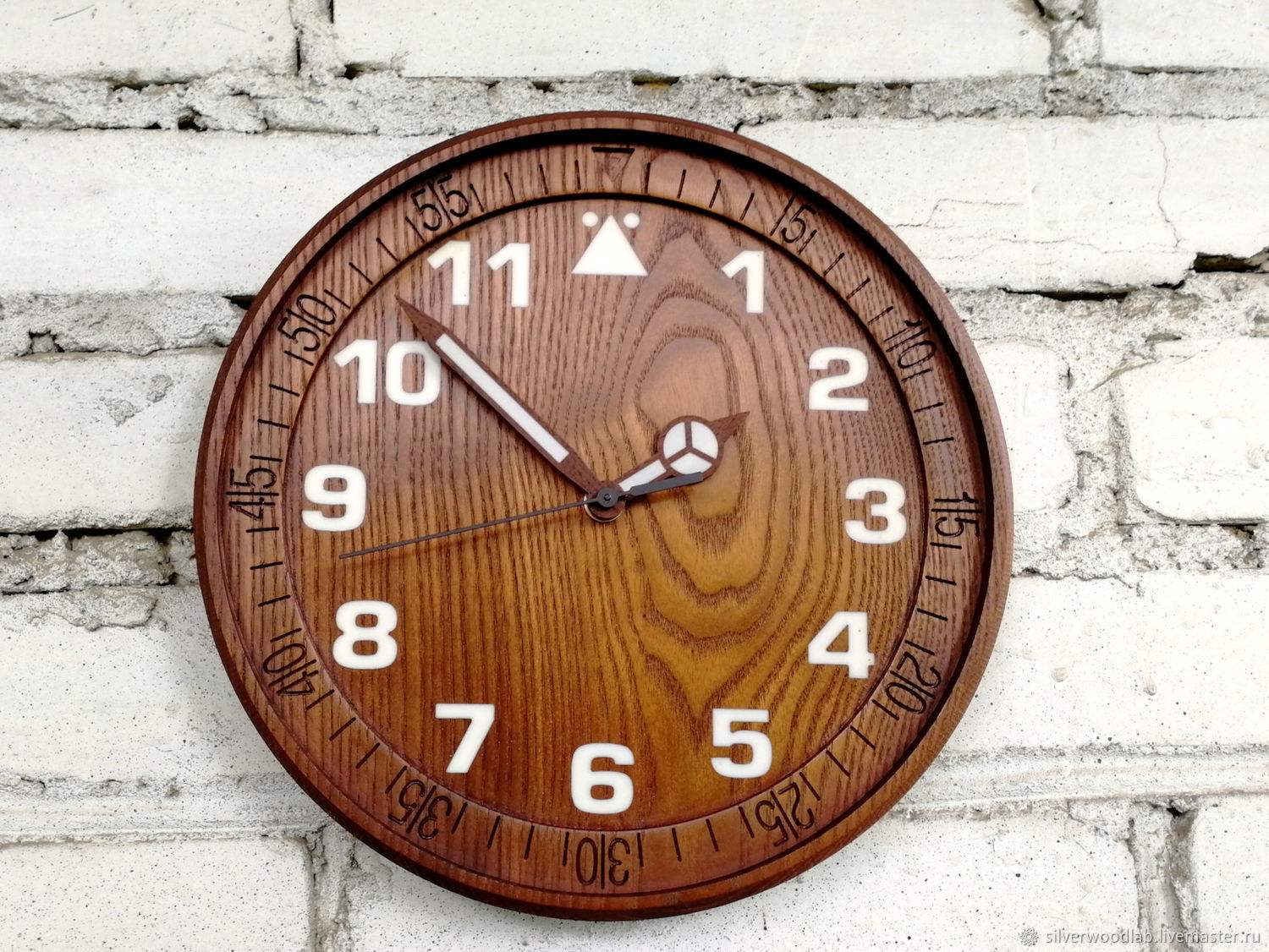 Wall clock made of ash, Watch, Moscow,  Фото №1