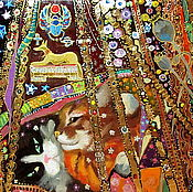 Картины и панно ручной работы. Ярмарка Мастеров - ручная работа Золотые занавески. Handmade.
